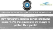 How restaurants can return their guests and protect them from corona virus- solution by getco-ppts-cec&t