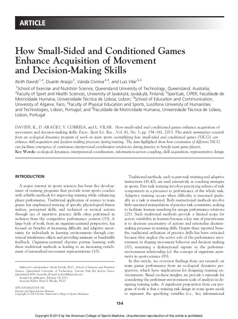 Workbooks recovery dynamics worksheets : How Small-Sided and Conditioned Games Enhance Acquisition of Movement…