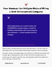 How Startups Can Mitigate Risks of Hiring a Web Development Company