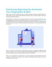 How survey reporting can accelerate your organization growth