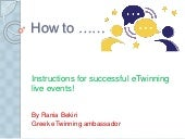 Tutorials for Online Events in eTwinning Live!