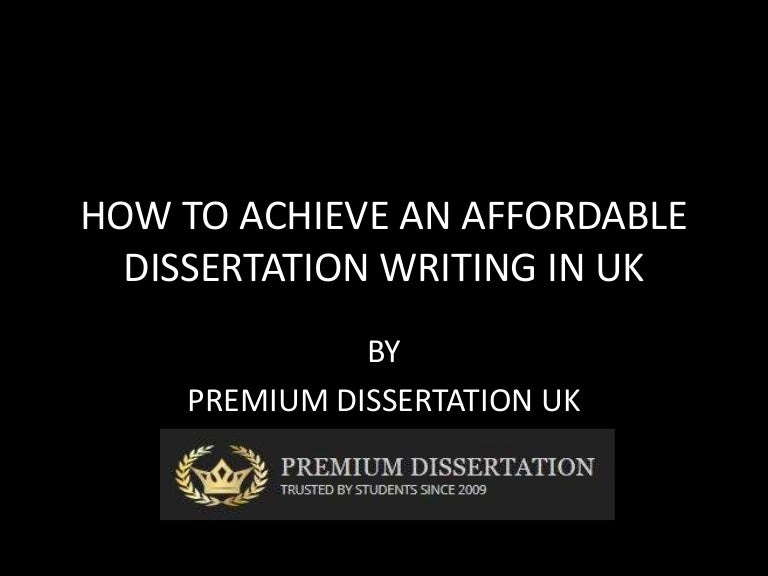 Affordable dissertation writing