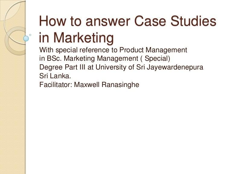 Case Study Sample For Marketing Marketing Case Study Analysis Example