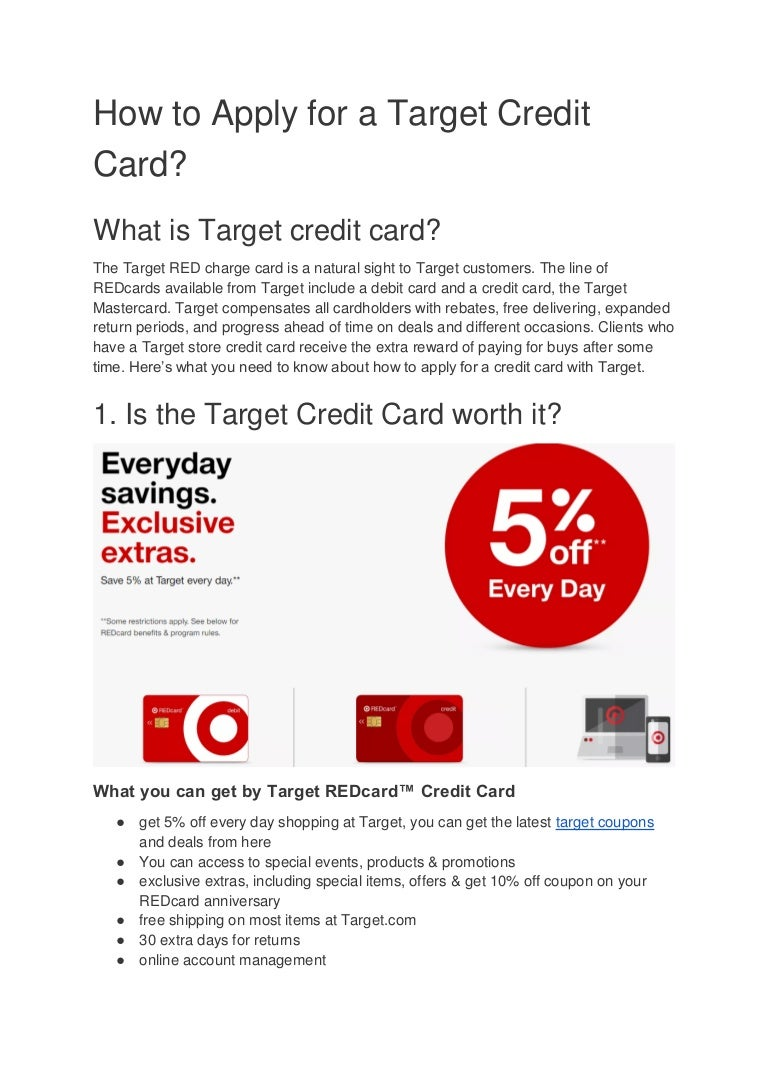 How to apply for a target credit card