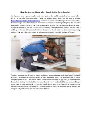 How to arrange dishwasher repair in northern beaches