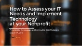 How to assess your it needs and implement technology at your nonprofit