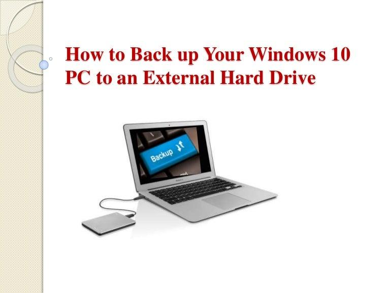 how to backup windows vista to external hard drive
