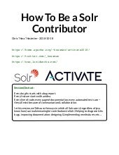 How To Be a Solr Contributor - Chris Hostetter, Lucidworks