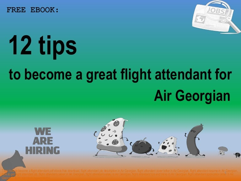 How to become a flight attendant for air georgian