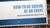 How to be social at an event