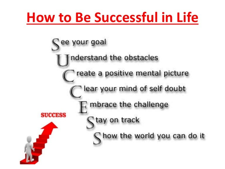 sample speech about success in life