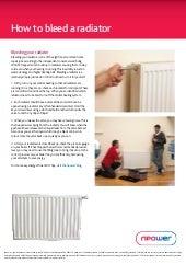 How to bleed radiator