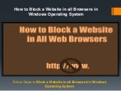 18002402551 How to Block a Website in all Browsers in Windows Operating System
