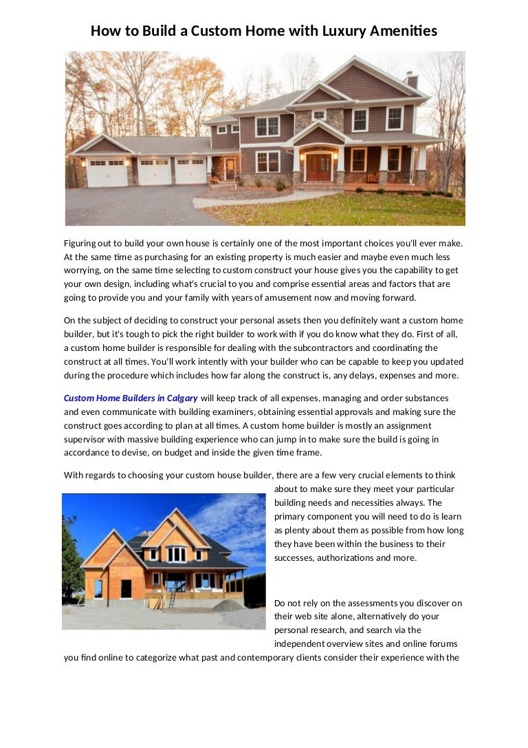 How To Build A Custom Home With Luxury Amenities