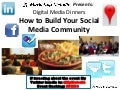 Digital Media Dinners- How to Build Your Social Media Community
