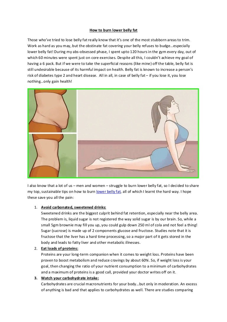 How to burn lower belly fat
