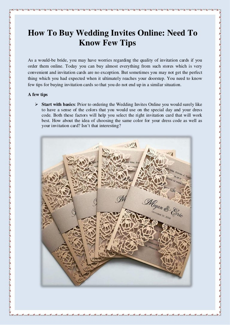 How To Buy Wedding Invites Online Need To Know Few Tips