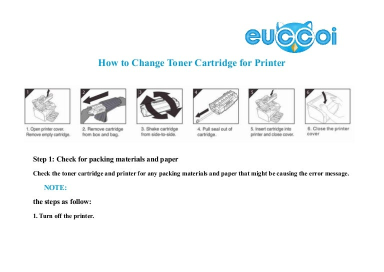 How to change toner cartridge for printer