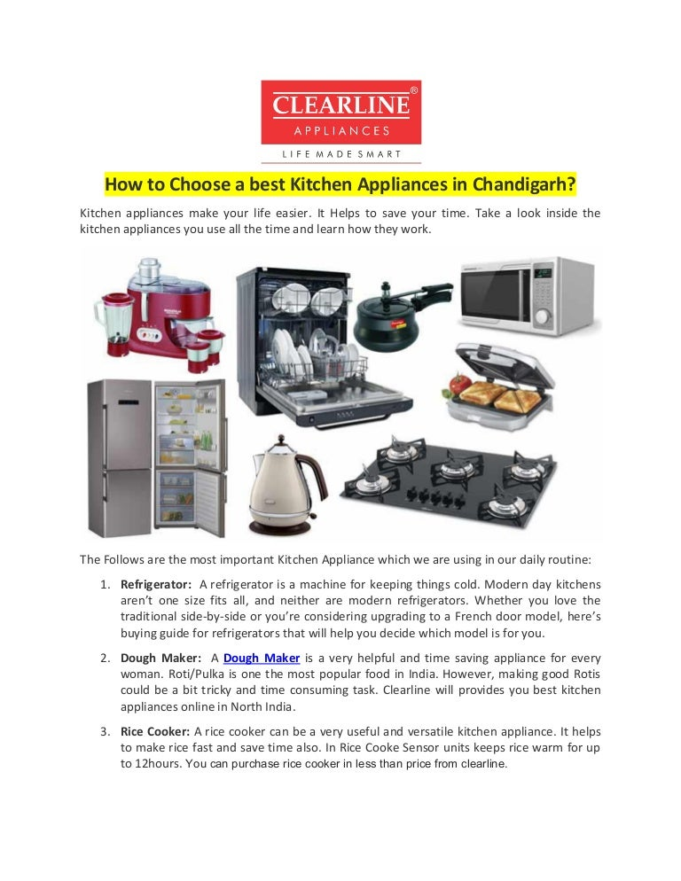 How to Choose a best Kitchen Appliances in Chandigarh?