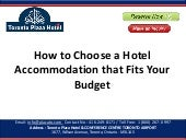How to choose a hotel accommodation that fits your budget