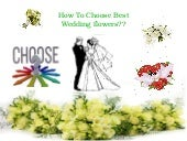 How to choose best wedding flowers