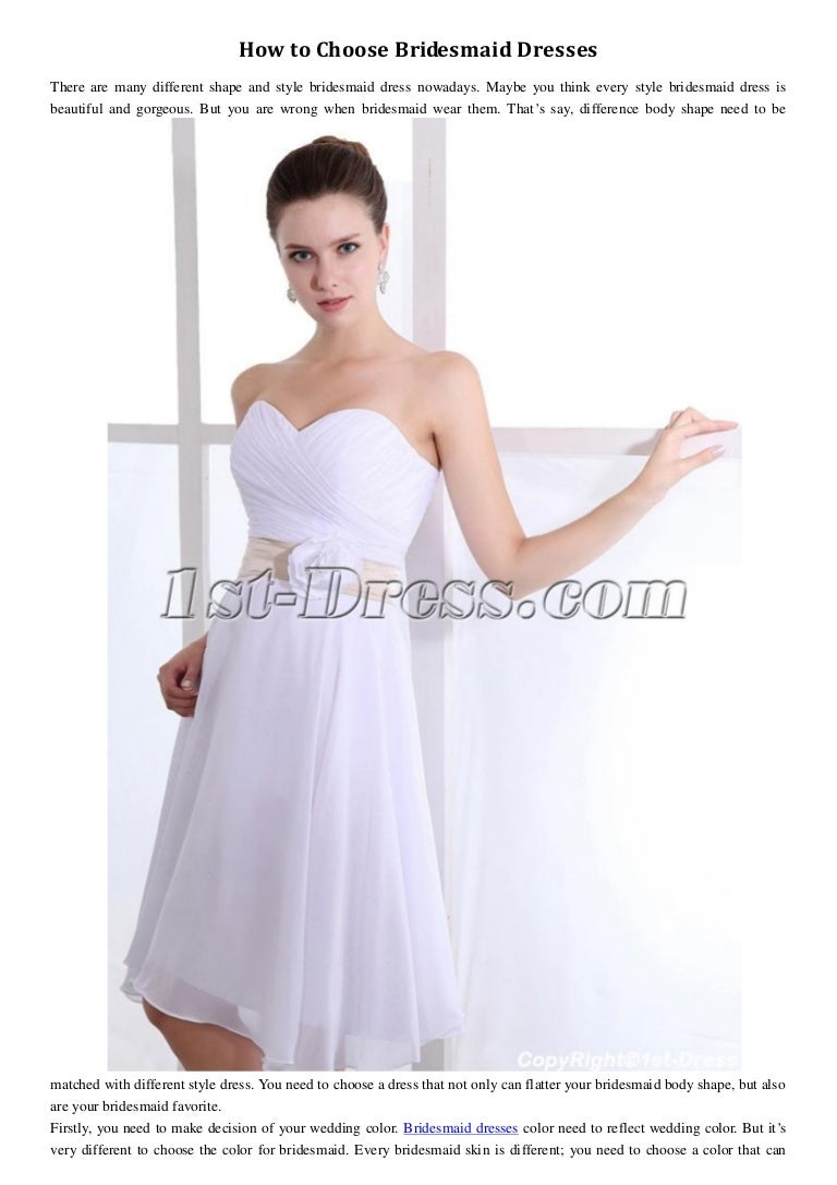 How to choose bridesmaid dresses 1st dress ombrellifo Gallery