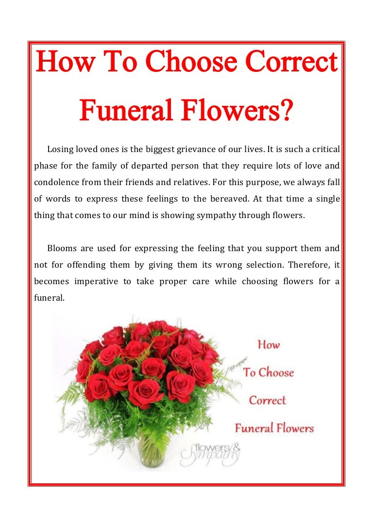 How to choose correct funeral flowers izmirmasajfo