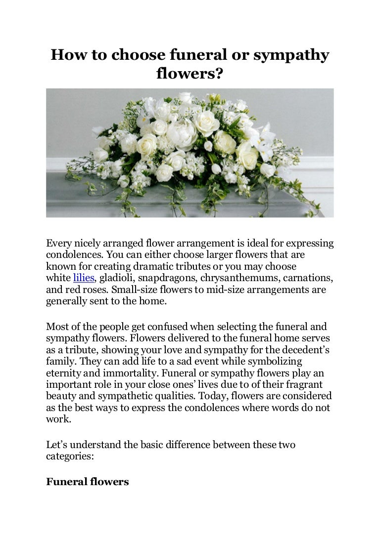 How to choose funeral or sympathy flowers izmirmasajfo