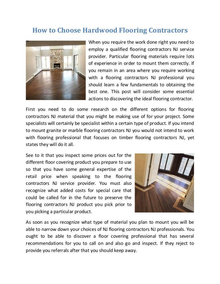 How To Choose Hardwood Flooring Contractors
