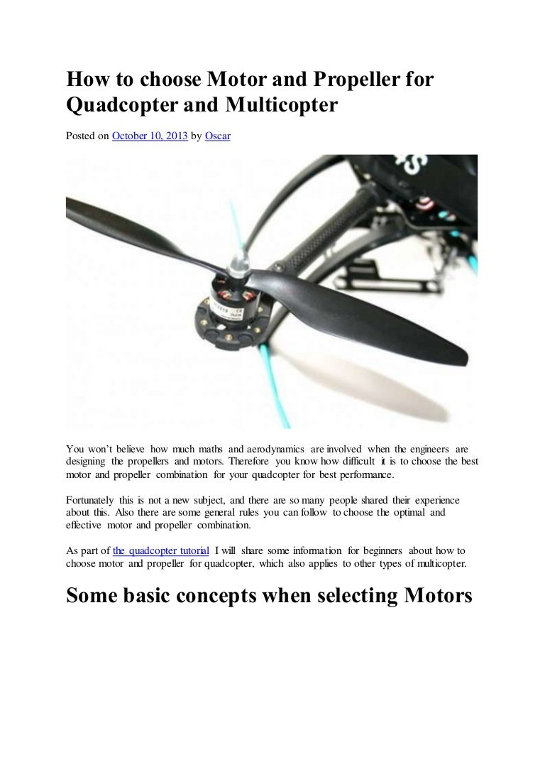 How to choose a quadroopter