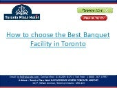 How to choose the Best Banquet Facility in Toronto