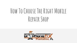 Repair Suggestions For A Damaged IPhone