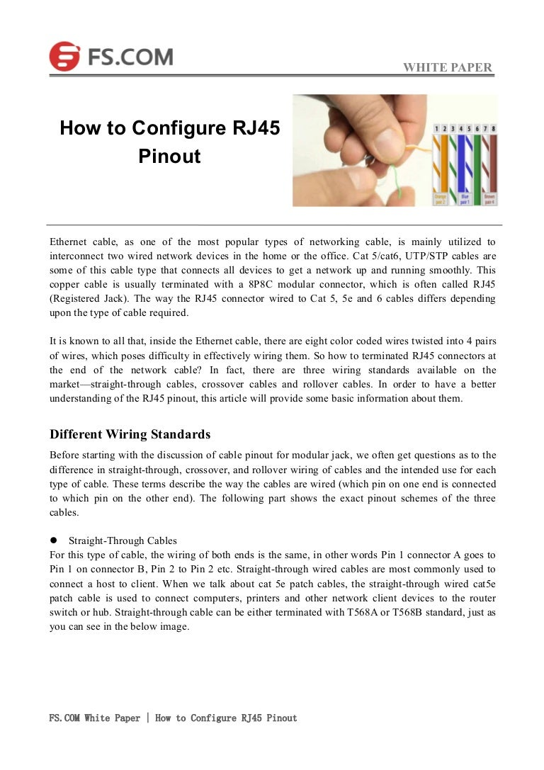 How To Configure Rj45 Pinout End Pin Jack Wiring