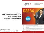 How to Connect to a DSS V6 iSCSI Target Volume from a Microsoft Windows