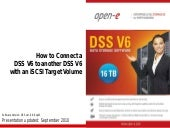 How to Connect a DSS V6 to another DSS V6 with an iSCSI Target Volume