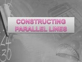 How to construct parallel lines