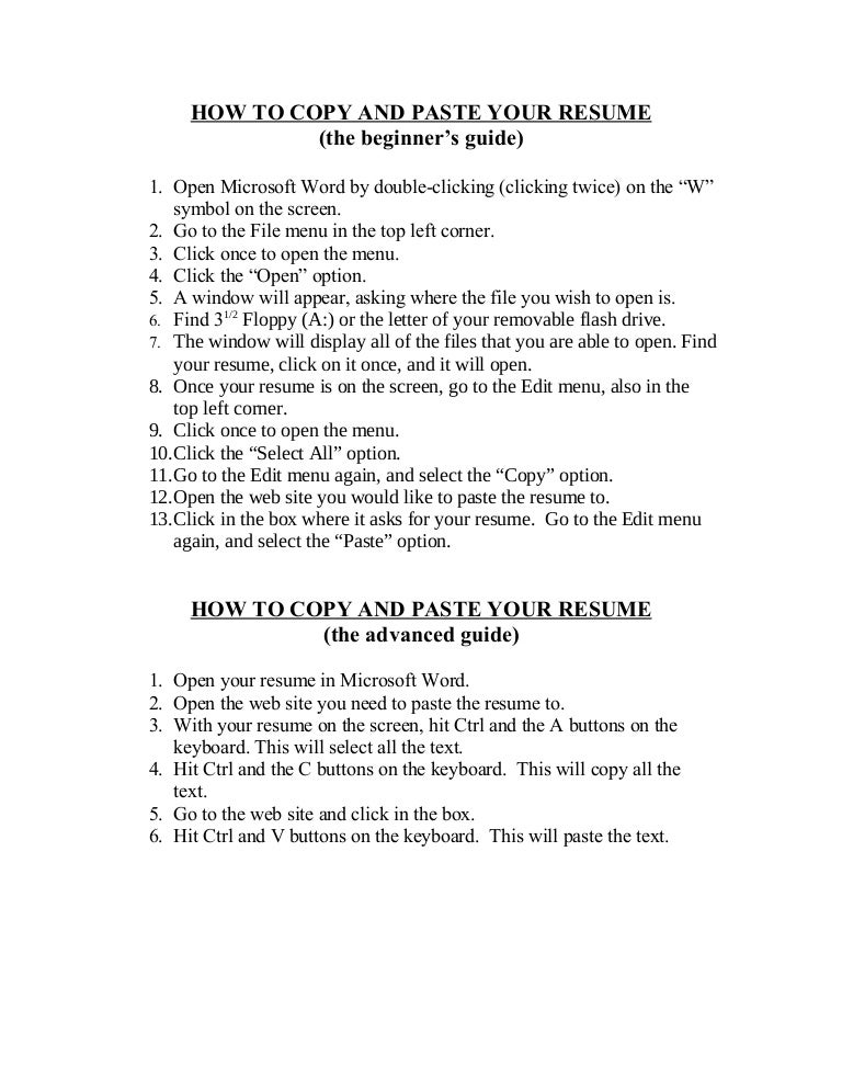 Download Copy Of A Resume. 79 Amazing Copy Of Resume Examples