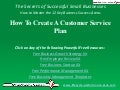 Video: How To Create A Customer Service Plan