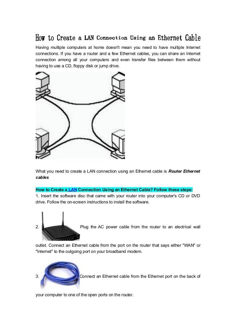 How To Create A Lan Connection Using An Ethernet Cable Wiring For Your Home Howtocreatealanconnectionusinganethernetcable 120217030939 Phpapp01 Thumbnail 4cb1329448271