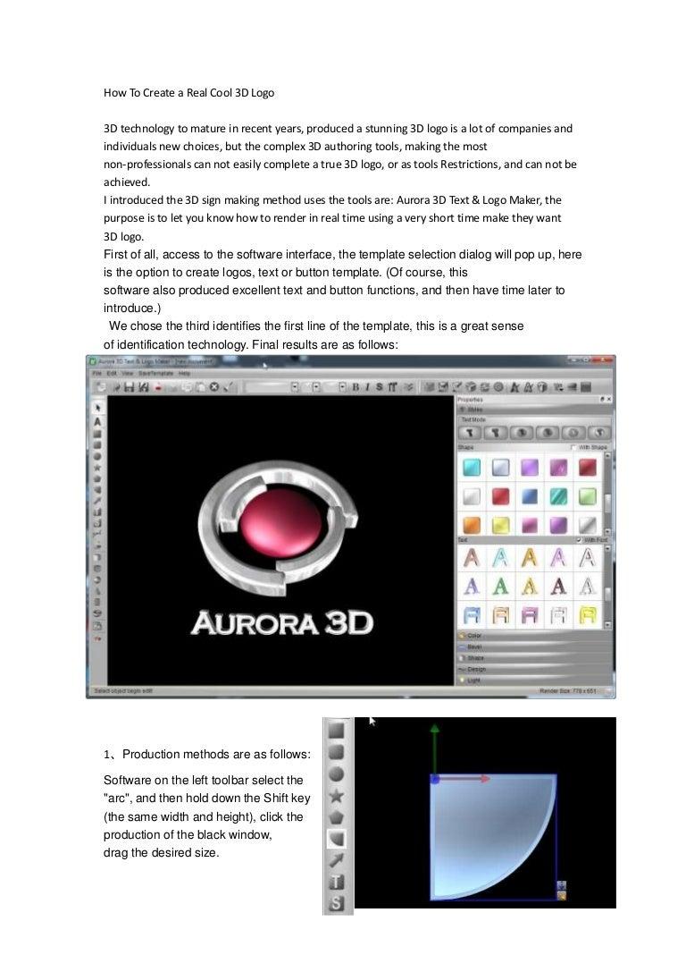 The Best Cool 3d Logo Maker Aurora 3d Text Logo Maker