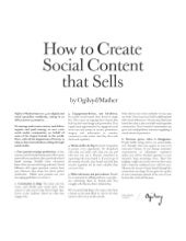 How to Create Social Content that Sells