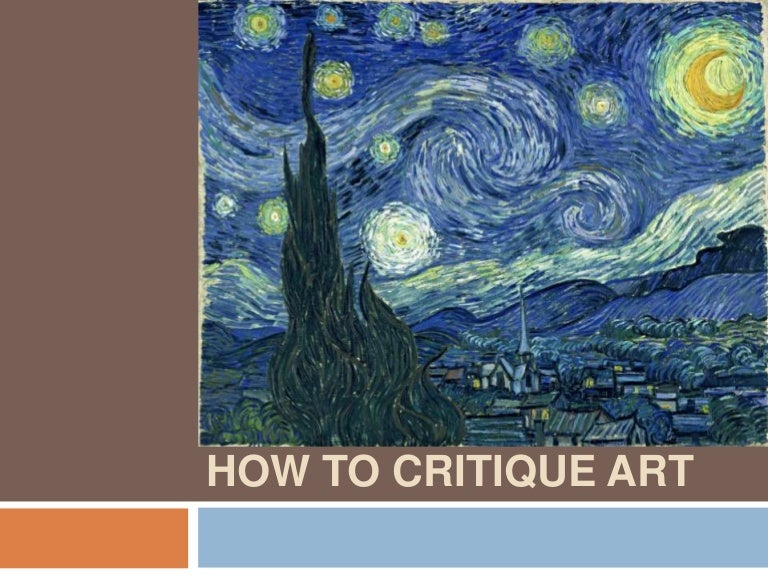how to formally critique art