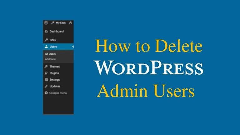 how to delete wordpress website