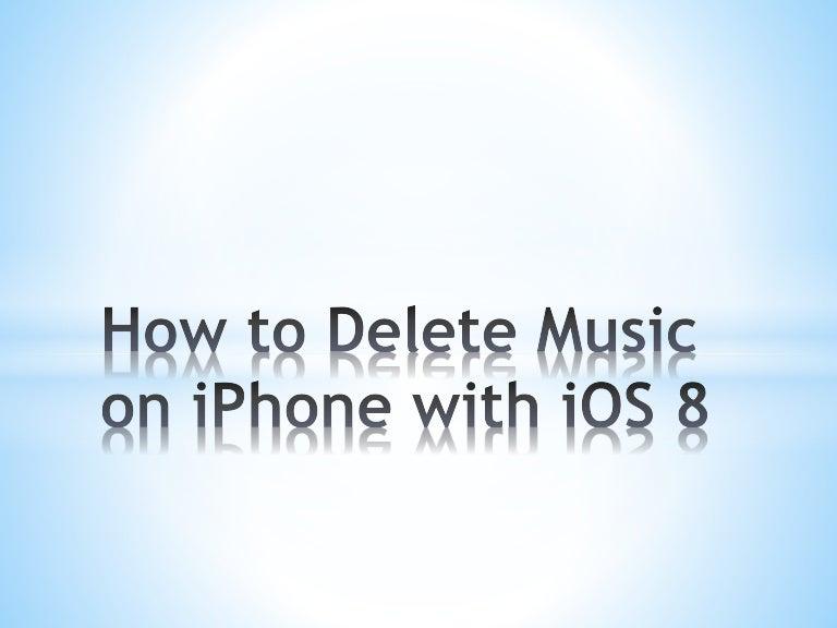 delete music iphone 4