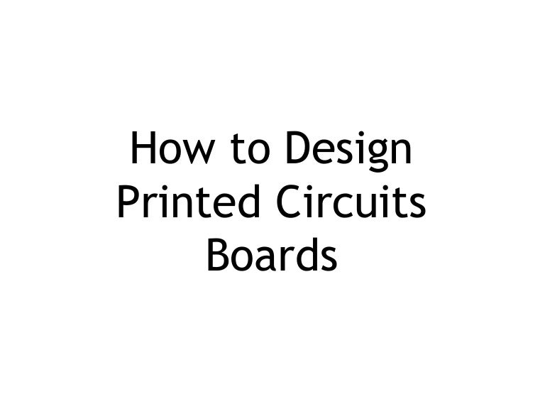 how to design pcb