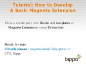 How to Develop a Basic Magento Extension Tutorial