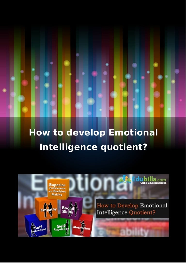 How to develop intelligence