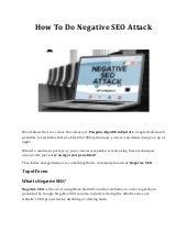How to do negative seo attack