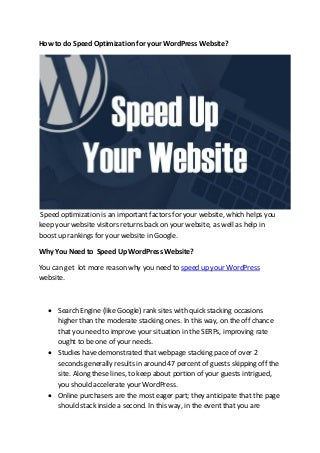 Call 1-800-514-2544 to do Speed Optimization for your WordPress Website?