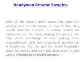 How to download handyman resume samples for handyman job